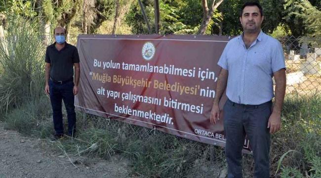 """Başkan Tezcan; """"Ortaca Belediyesi'nin pankartı art niyetli"""""""